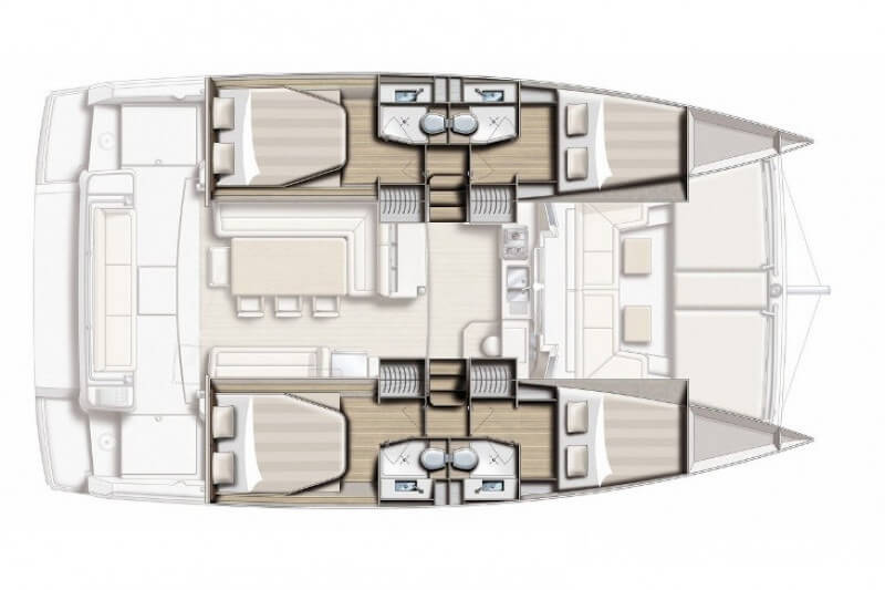 luxury catamaran plan